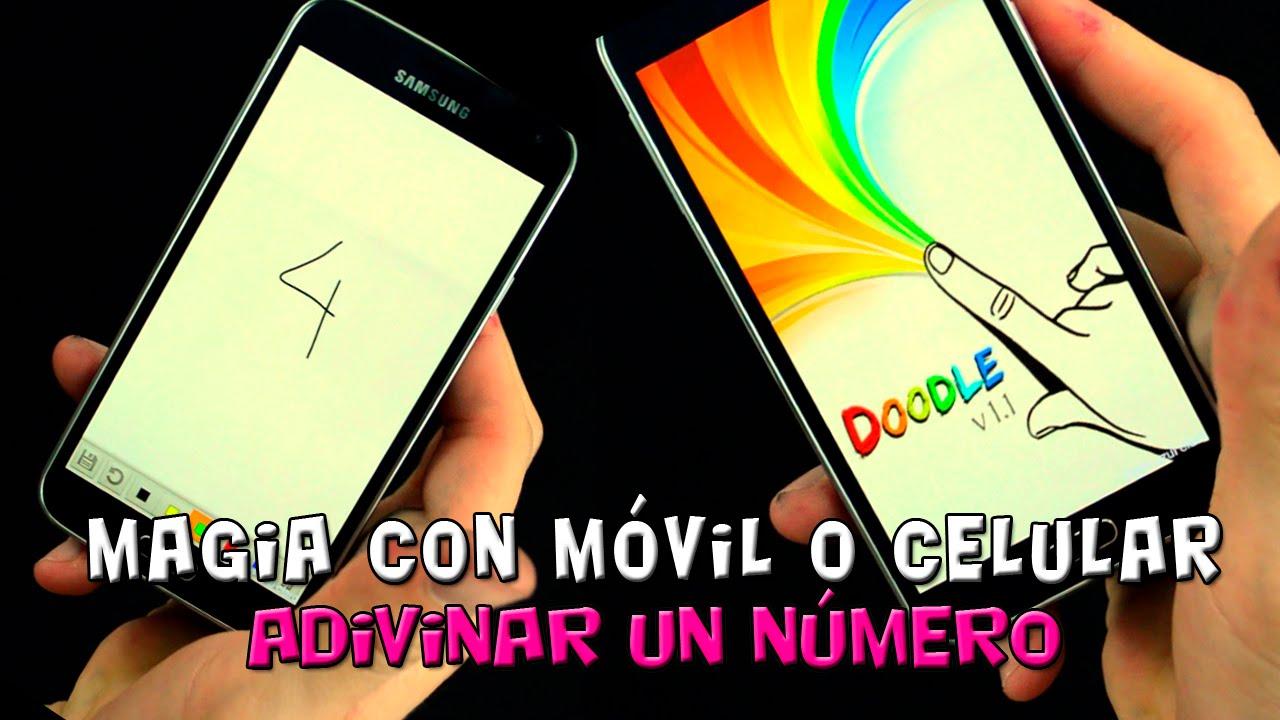 Adivinar número con App Android para smartphone, mentalismo