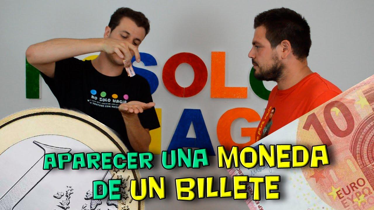 Aparecer Moneda de Un Billete (magia con monedas)