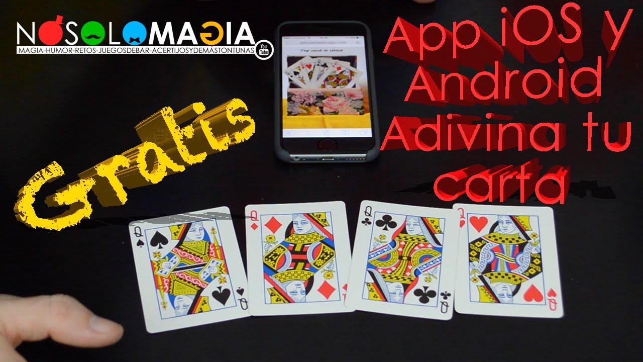 App de Magia Para iOs y Android Gratis | Adivina La Carta Con el Móvil o Celular