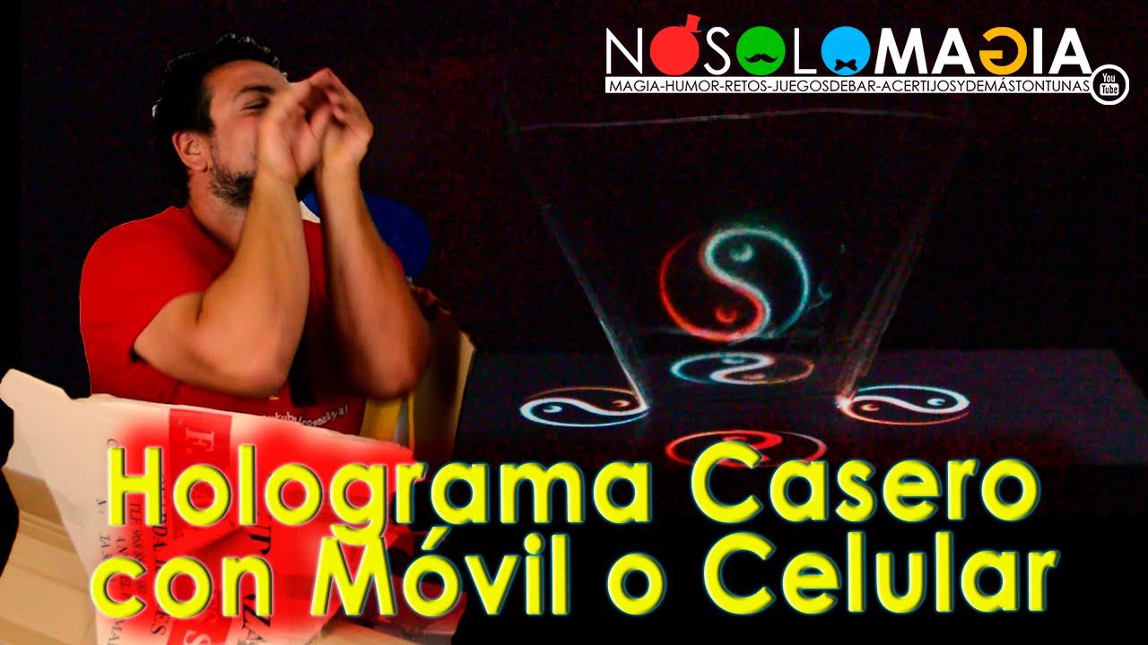 Holograma Casero para Móvil o Celular | Cómo Se Hace | DIY Ilusión Óptica