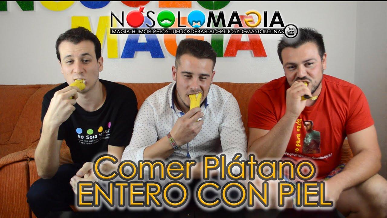Comer Plátano Con Cáscara o Piel Los Retos De Jairo No Solo Magia